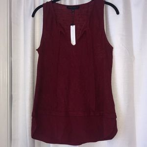 NEW Sanctuary Sleeveless Blouse in Maroon